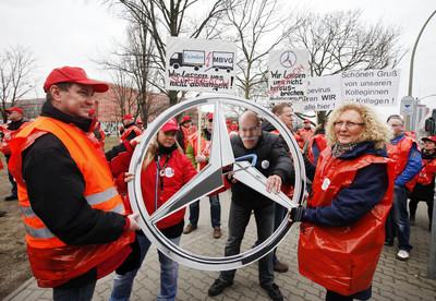 Protest der MBVG-Beschäftigten, Fotos: Christian v. Polentz
