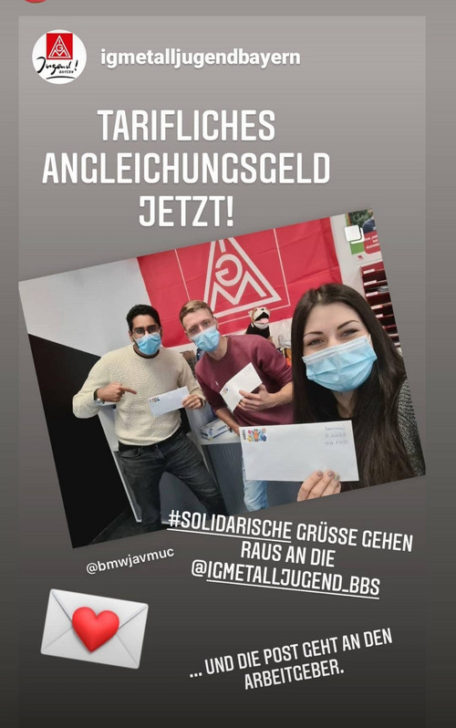 Aktion der IG Metall Jugend: Post für den Gesamtmetall ...